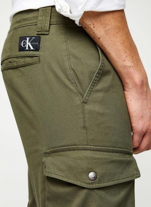 Vêtements Calvin Klein Jeans Skinny Washed Cargo Pant Vert vue face