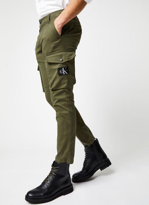 Vêtements Calvin Klein Jeans Skinny Washed Cargo Pant Vert vue détail/paire