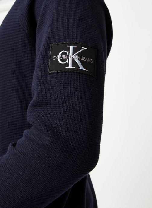 Vêtements Calvin Klein Jeans Waffle Monogram Sleeve Slim L/S Bleu vue face