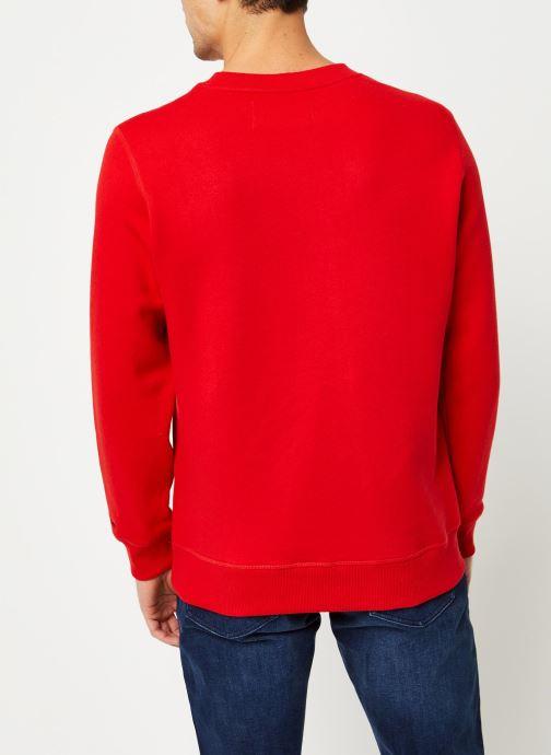 Vêtements Calvin Klein Jeans CK Essential Reg Cn Rouge vue portées chaussures