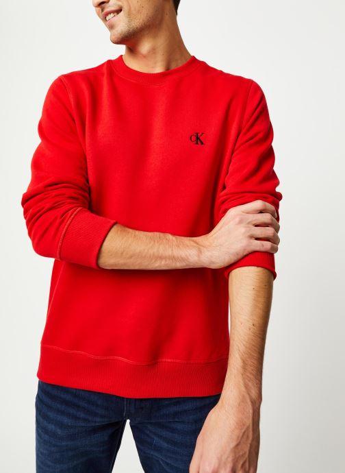 Vêtements Calvin Klein Jeans CK Essential Reg Cn Rouge vue droite