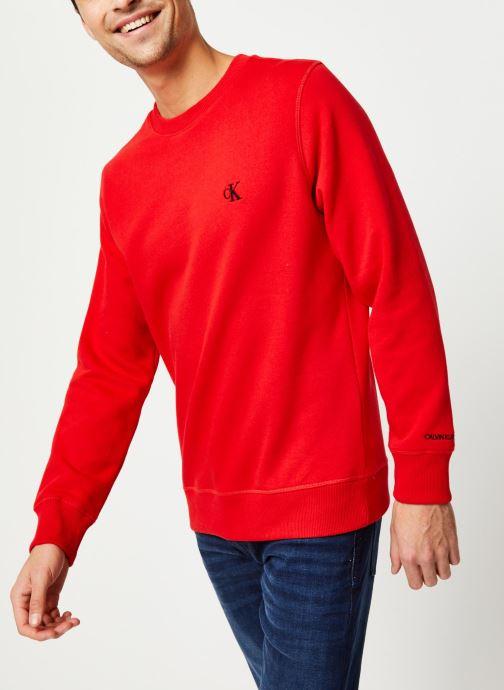Vêtements Calvin Klein Jeans CK Essential Reg Cn Rouge vue détail/paire