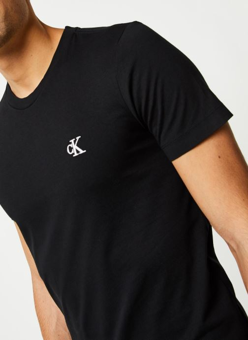Vêtements Calvin Klein Jeans CK Essential Slim Tee Noir vue face