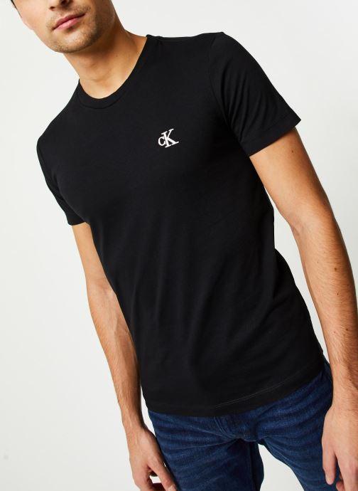 Vêtements Calvin Klein Jeans CK Essential Slim Tee Noir vue droite