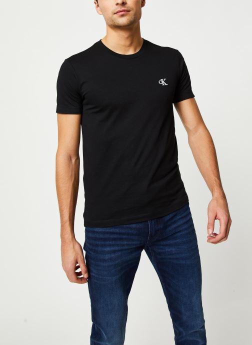 Vêtements Calvin Klein Jeans CK Essential Slim Tee Noir vue détail/paire