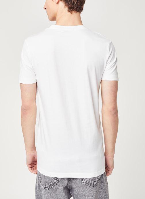 Vêtements Calvin Klein Jeans CK Essential Slim Tee Blanc vue portées chaussures