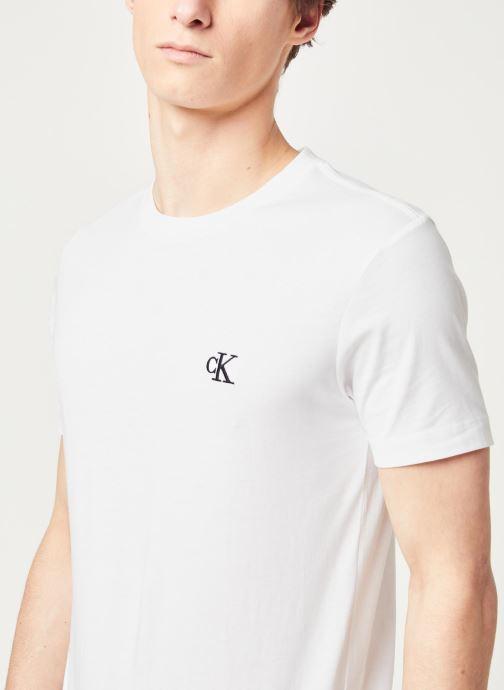 Vêtements Calvin Klein Jeans CK Essential Slim Tee Blanc vue face