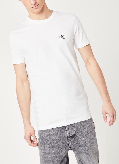 Vêtements Calvin Klein Jeans CK Essential Slim Tee Blanc vue droite