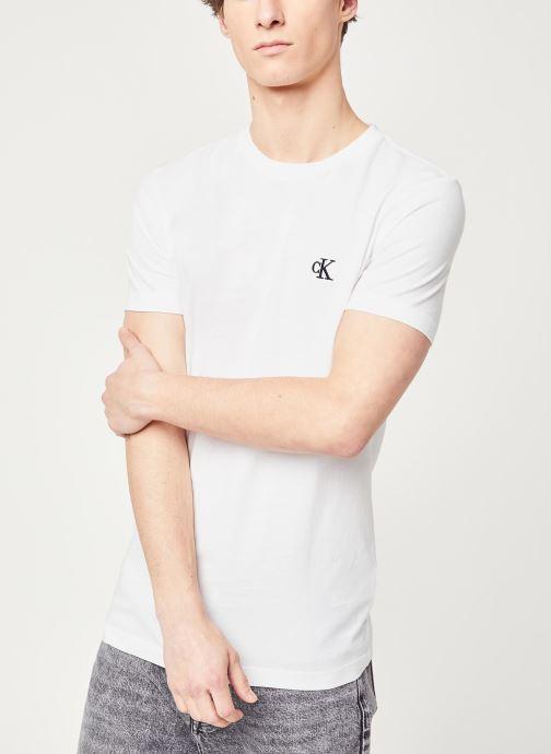 Vêtements Calvin Klein Jeans CK Essential Slim Tee Blanc vue détail/paire