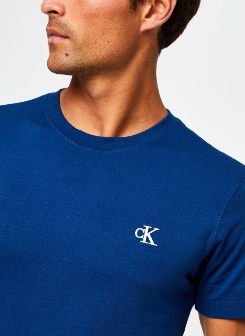 Vêtements Calvin Klein Jeans CK Essential Slim Tee Bleu vue face