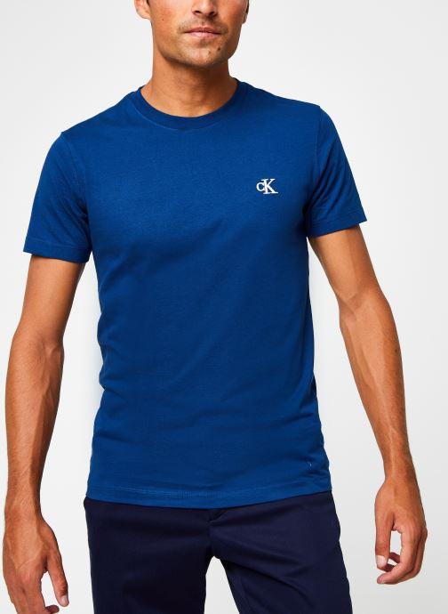 Vêtements Calvin Klein Jeans CK Essential Slim Tee Bleu vue droite
