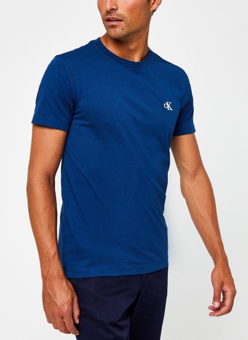 Vêtements Calvin Klein Jeans CK Essential Slim Tee Bleu vue détail/paire