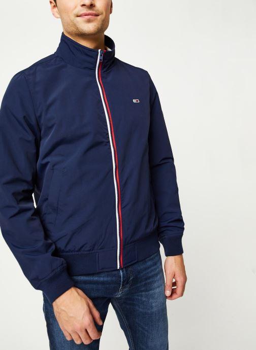 Vêtements Tommy Jeans TJM Essential Bomber Jacket Bleu vue détail/paire