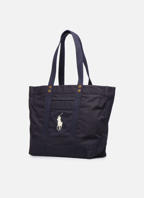 Handtaschen Polo Ralph Lauren PP TOTE ZIPCANVAS blau schuhe getragen