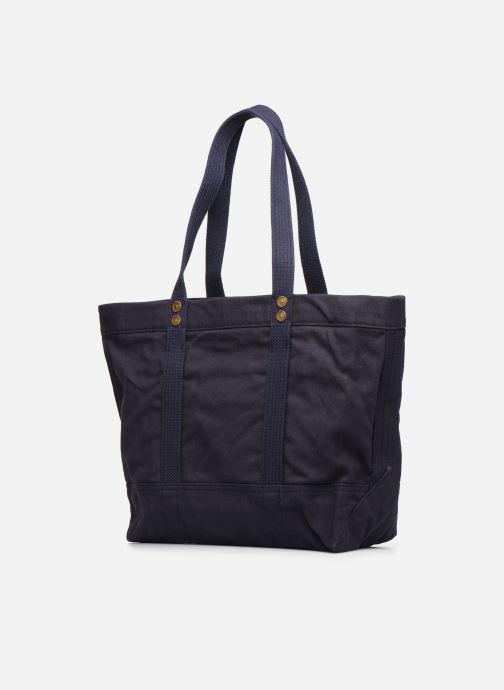 Handtaschen Polo Ralph Lauren PP TOTE ZIPCANVAS blau ansicht von rechts