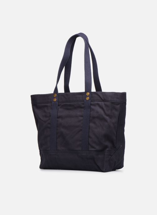 Handbags Polo Ralph Lauren PP TOTE ZIPCANVAS Blue view from the right