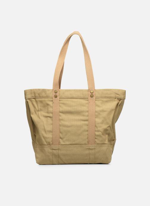 Handbags Polo Ralph Lauren PP TOTE ZIPCANVAS Brown front view