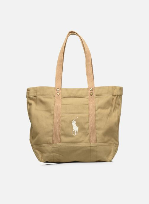 Handbags Polo Ralph Lauren PP TOTE ZIPCANVAS Brown detailed view/ Pair view