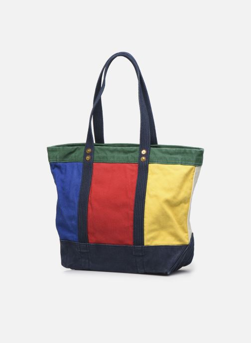 Handbags Polo Ralph Lauren MEDIUM PP TOTE ZIP COLOR BLOCK Multicolor view from the right