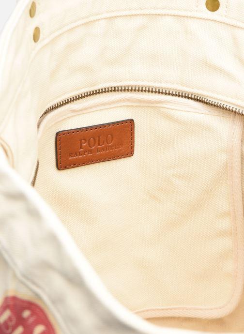 Sacs à main Polo Ralph Lauren MEDIUM PP TOTE ZIP PATCH Blanc vue derrière