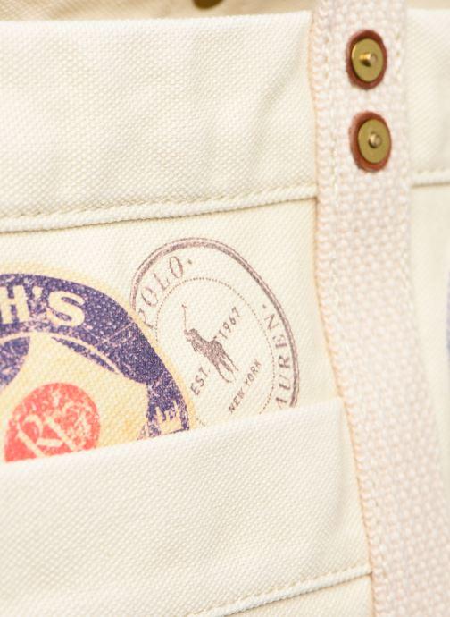Bolsos de mano Polo Ralph Lauren MEDIUM PP TOTE ZIP PATCH Blanco vista lateral izquierda