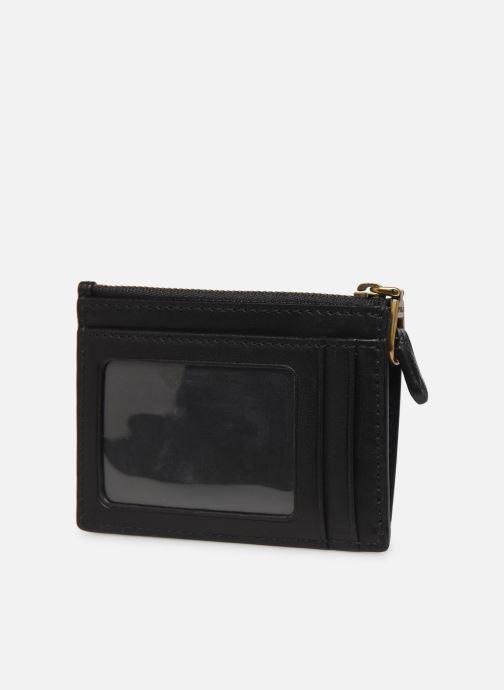Marroquinería pequeña Polo Ralph Lauren ZIP CC CARD SMALL Negro vista lateral derecha