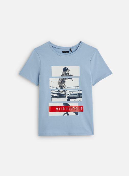 Kleding IKKS JUNIOR  T-shirt MC XQ10043 Blauw detail