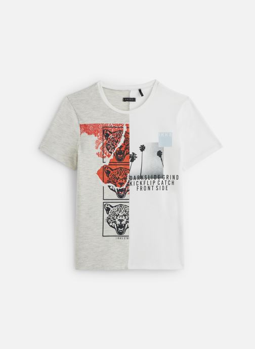 Kleding IKKS JUNIOR  T-shirt MC XQ10063 Beige detail