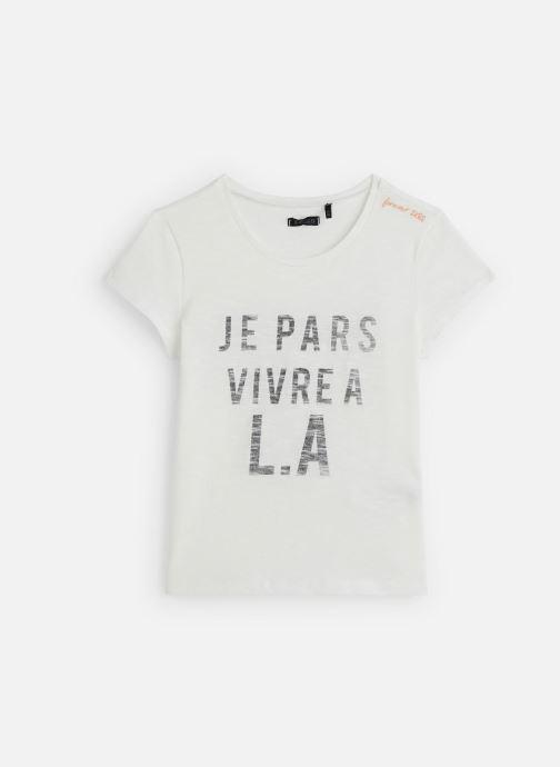 Vêtements IKKS JUNIOR  T-shirt MC XQ10082 Blanc vue détail/paire