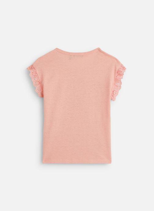 Vêtements IKKS JUNIOR  T-shirt MC XQ10342 Rose vue bas / vue portée sac