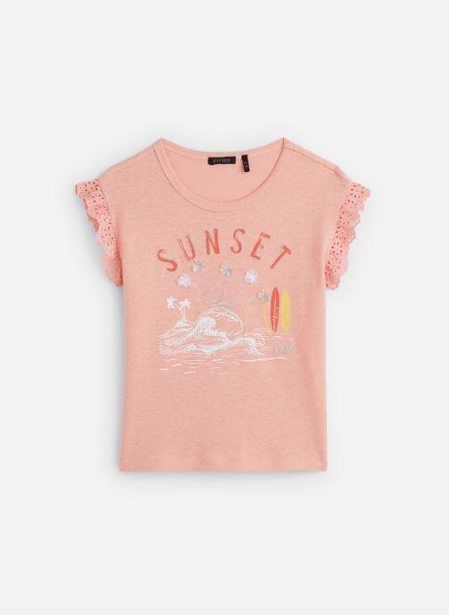 Vêtements IKKS JUNIOR  T-shirt MC XQ10342 Rose vue détail/paire
