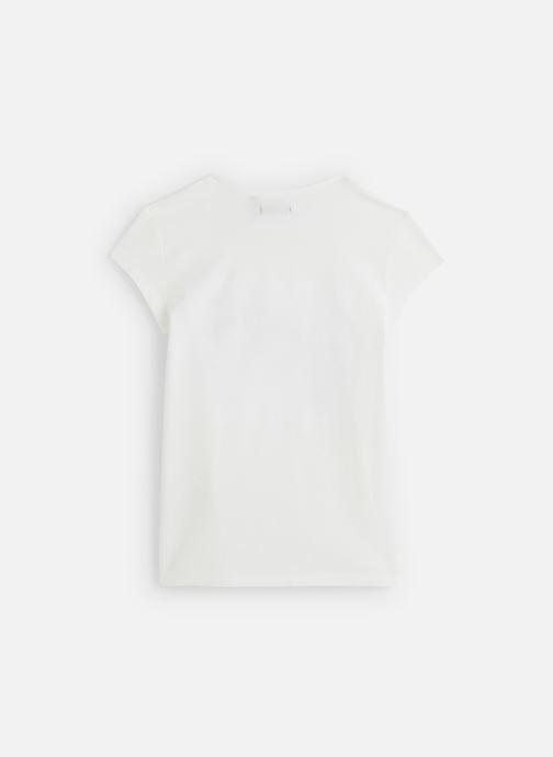 Vêtements IKKS JUNIOR  T-shirt MC XQ10372 Blanc vue bas / vue portée sac