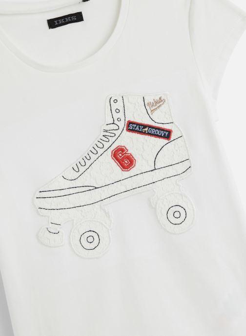 Vêtements IKKS JUNIOR  T-shirt MC XQ10372 Blanc vue portées chaussures