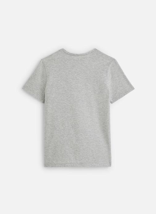 Vêtements IKKS JUNIOR  T-shirt MC XQ10483 Gris vue bas / vue portée sac