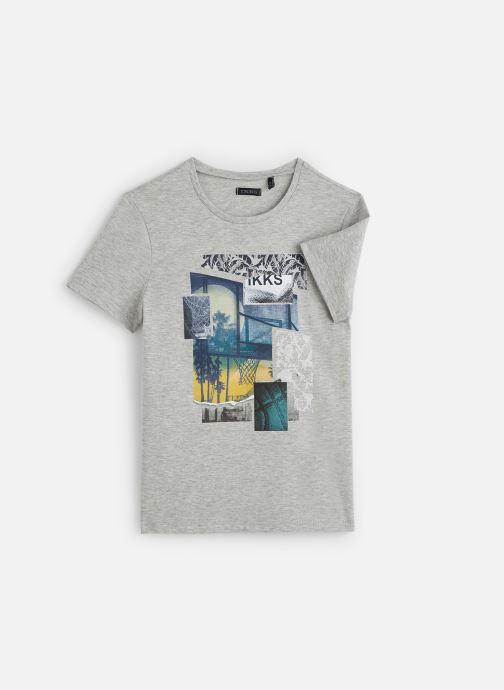 Vêtements IKKS JUNIOR  T-shirt MC XQ10483 Gris vue détail/paire