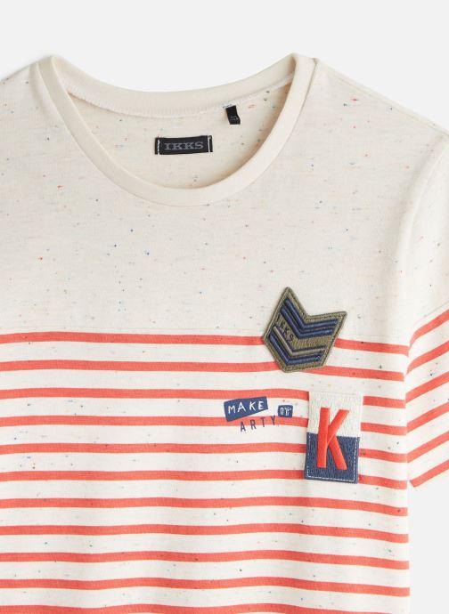 Vêtements IKKS JUNIOR  T-shirt MC XQ10213 Orange vue portées chaussures