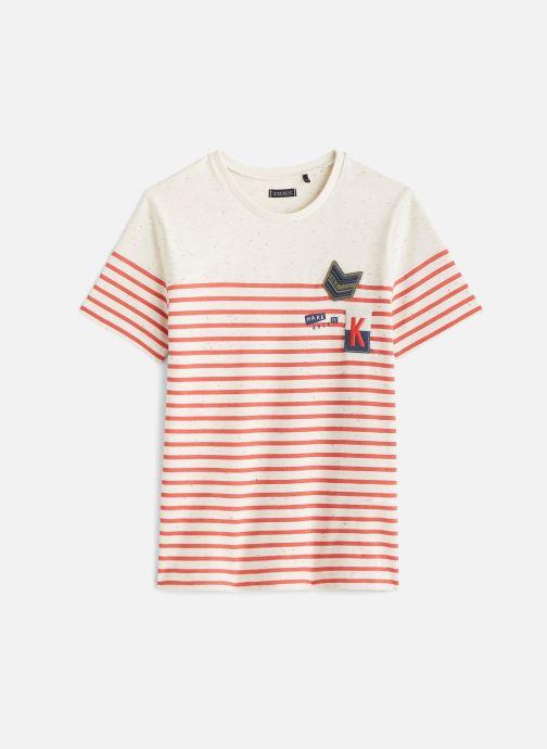 Vêtements IKKS JUNIOR  T-shirt MC XQ10213 Orange vue détail/paire
