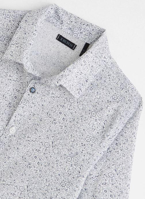 Vêtements IKKS JUNIOR  Chemise ML XQ12033 Blanc vue portées chaussures