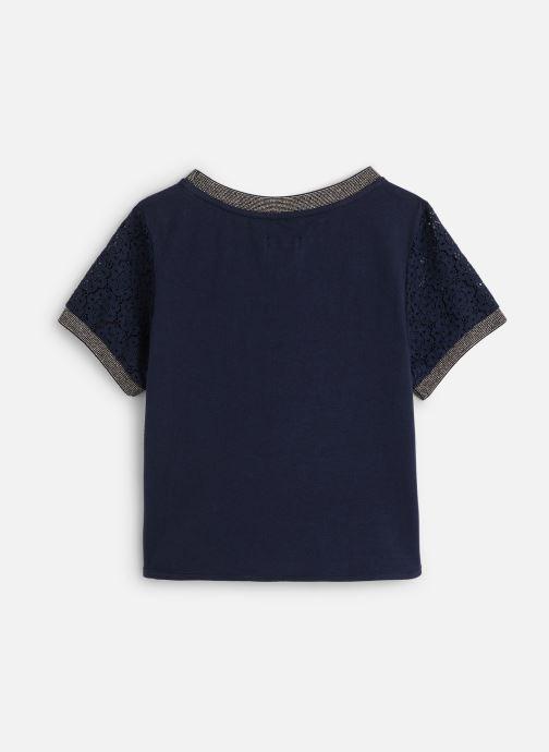 Vêtements IKKS JUNIOR  Top MC XQ12122 Bleu vue bas / vue portée sac