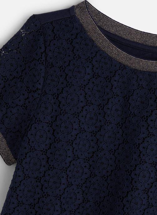 Vêtements IKKS JUNIOR  Top MC XQ12122 Bleu vue portées chaussures