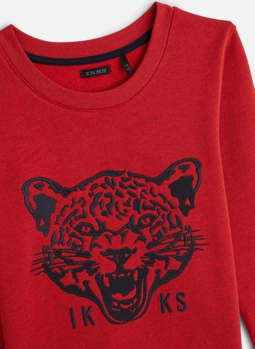 Vêtements IKKS JUNIOR  Sweatshirt XQ15003 Rouge vue portées chaussures