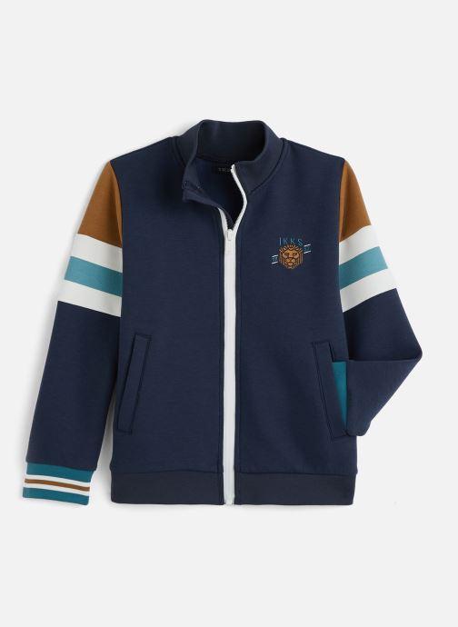 Vêtements IKKS JUNIOR  Sweatshirt zippé XQ17043 Bleu vue détail/paire
