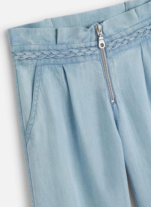 Vêtements IKKS JUNIOR  Pantalon fluide XQ22012 Bleu vue portées chaussures