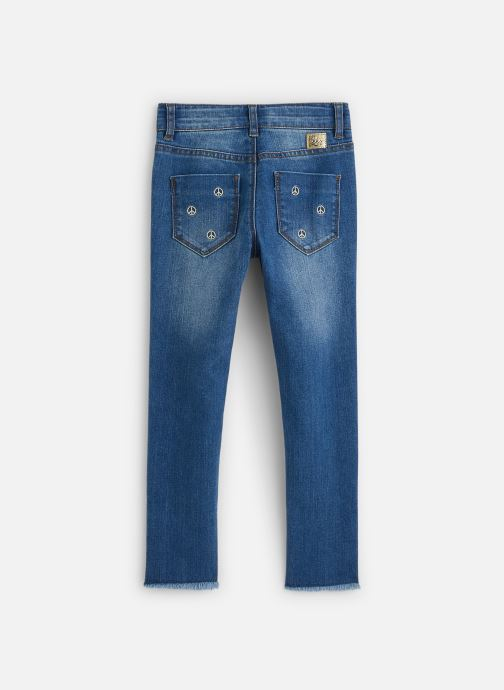 Vêtements IKKS JUNIOR  Jean Skinny 7/8ème XQ29062 Bleu vue bas / vue portée sac