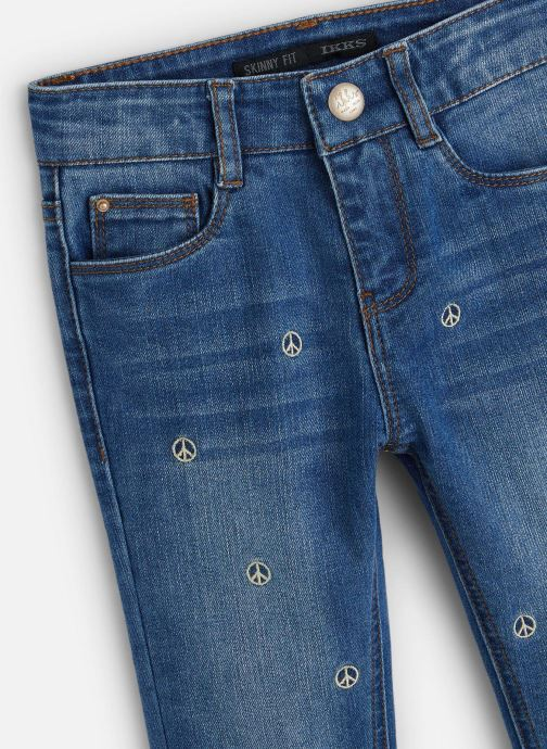 Vêtements IKKS JUNIOR  Jean Skinny 7/8ème XQ29062 Bleu vue portées chaussures