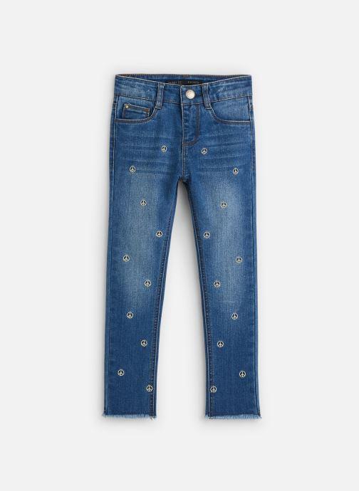 Vêtements IKKS JUNIOR  Jean Skinny 7/8ème XQ29062 Bleu vue détail/paire