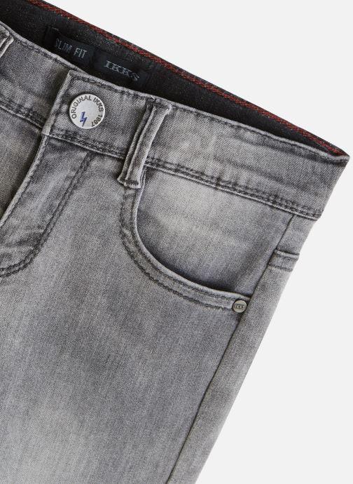 Vêtements IKKS JUNIOR  Jean biker XQ29083 Gris vue portées chaussures