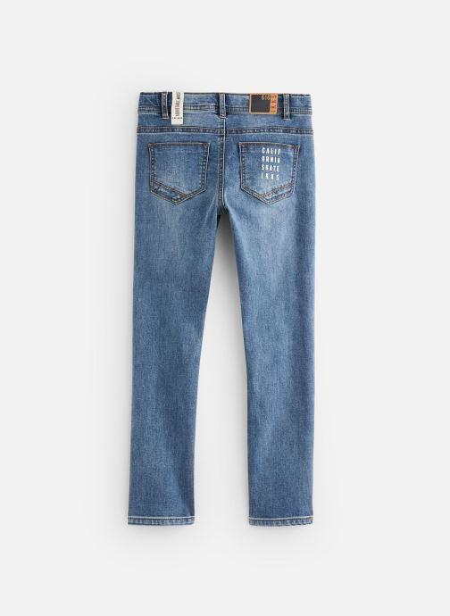 Vêtements IKKS JUNIOR  Jean slim XQ29113 Bleu vue bas / vue portée sac