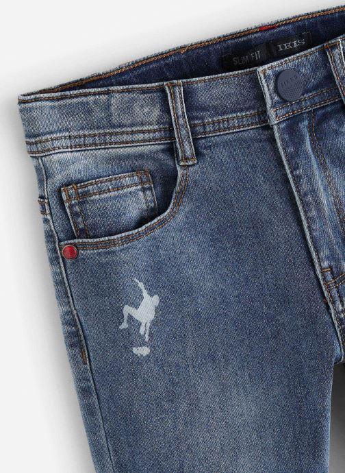 Vêtements IKKS JUNIOR  Jean slim XQ29113 Bleu vue portées chaussures
