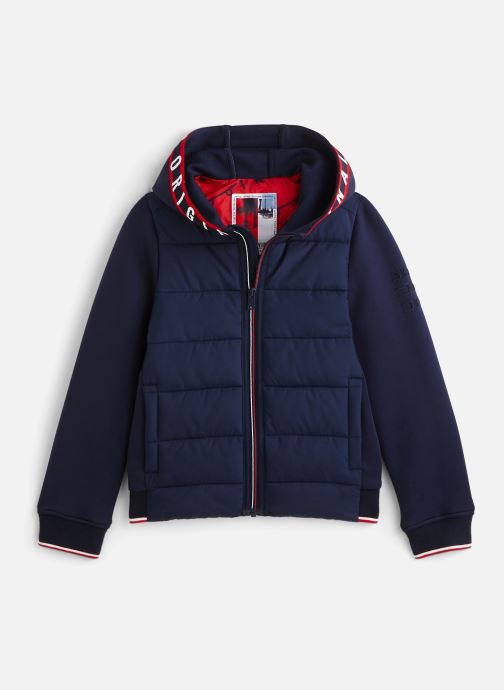 Vêtements IKKS JUNIOR  Doudoune bi-mat XQ41013 Bleu vue détail/paire